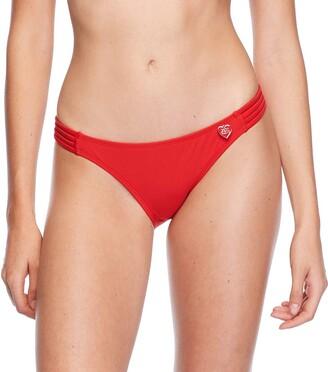 Body Glove Women's Flirty Surf Rider Solid Bikini Bottom Swimsuit