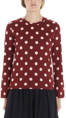 COMME DES GARÇONS GIRL Polka Dot Print Long Sleeve T-Shirt