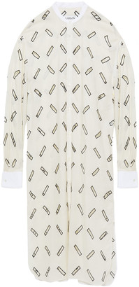 Lanvin Cutout Embroidered Cotton-blend Top
