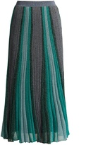 Missoni Striped pleated knit midi skirt