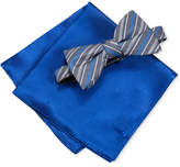Alfani Men's Cedar Stripe Bow Tie & Solid Pocket Square Set, Only at Macy's