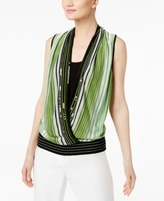INC International Concepts Petite Layered-Look Surplice Sweater, Created for Macy's