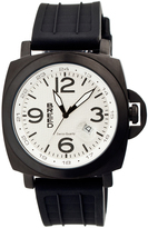 Breed White & Black Gunner Silicone-Strap Watch