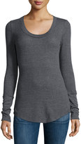 Splendid Waffle-Knit Thermal Tunic, Charcoal