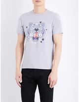 Kenzo Valentine Tiger-print Cotton T-shirt