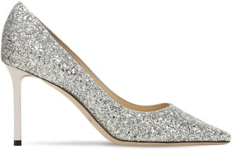 Jimmy Choo 85mm Romy Glittered Pumps