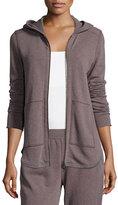 ATM Anthony Thomas Melillo Long-Sleeve Zip-Front Hoodie Sweatshirt