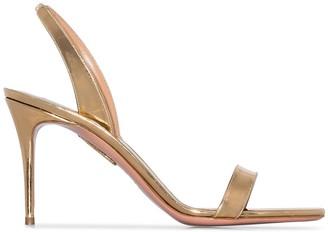 Aquazzura So Nude metallic slingback sandals