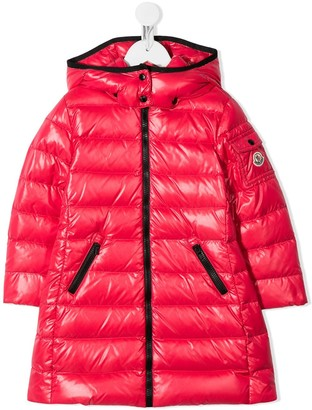 Moncler Enfant Zipped Long Padded Coat