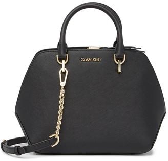 Calvin Klein Hayden Leather Satchel