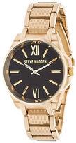 Steve Madden Analog Chainlink Alloy Strap Watch