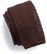 Todd Snyder Classic Knit Silk Tie in Brown