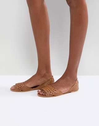 Asos Design JUNA Leather Summer Shoes-Tan