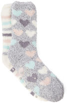 Oasis 2-Pack Heart and Stripe Socks