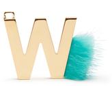 Fendi ABClick letter 'W' key charm