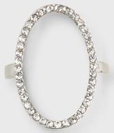 Rhinestone Oval Ring