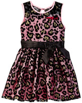 Betsey Johnson Flocked Illusion Dress (Big Girls)
