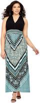 London Times LDB21W Scarf Print Maxi Dress