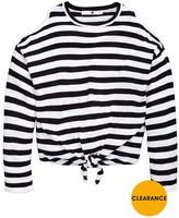 Very Girls Cold Shoulder Stripe Knit