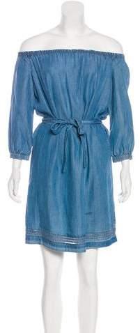 Paige Denim Chambray Mini Dress