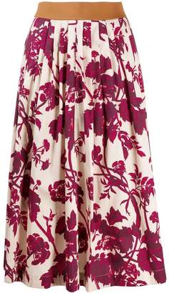 Antonio Marras pleated floral print skirt