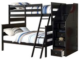 ACME Furniture Alvis Kids Bunk Bed with Storage - Black(Twin/Full) - Acme