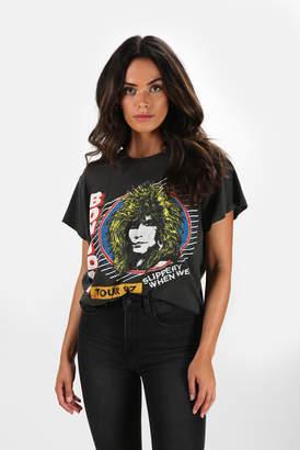 MadeWorn Rock Bon Jovi Tour '87 Slippery When Wet Tee
