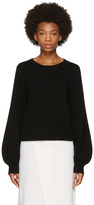 Chloé Black Cropped Bell Sleeve Sweater