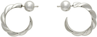 Sophie Buhai Silver Small Rope Hoop Earrings