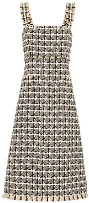 Oscar de la Renta Cotton and wool blend tweed dress