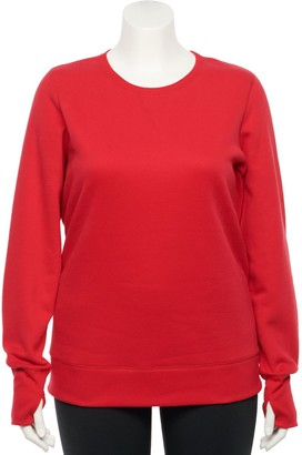 Tek Gear Plus Size Crewneck Fleece Sweatshirt