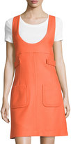 See by Chloe Sleeveless Patch-Pocket Dress, Orange