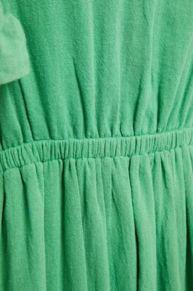 BA&SH Joyce Ruffled Cotton-gauze Midi Dress
