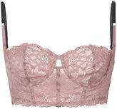 Fleur Du Mal Charlotte lace long bra - women - Polyamide/Spandex/Elastane - 32C