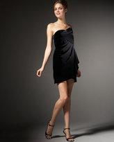 Strapless Origami Velvet Dress