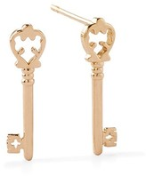 Alex and Ani Skeleton Key Post Earrings