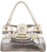 Jimmy Choo Suede-Trimmed Sequined Bag