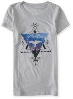 Aeropostale Womens Eagle Triangle Graphic T Shirt