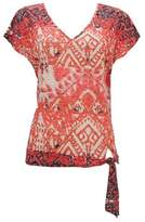 Wallis Orange Tribal Print Top