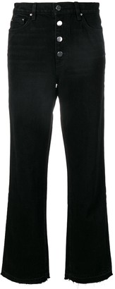 Amiri High-Rise Straight Jeans