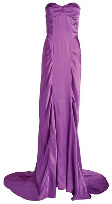 ATTICO Satin Strapless Gown