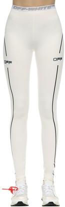 Off-White Logo Techno Jersey Leggings