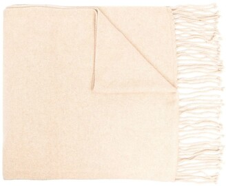 Co Cashmere Tassel Scarf With Patch Pockets