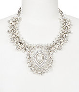Natasha Accessories Faux-Pearl & Crystal Pear Statement Necklace