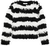Max Mara Striped Mohair-blend Sweater - Black