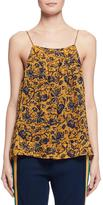 Etoile Isabel Marant Bronson Floral Silk Camisole, Yellow