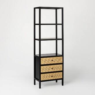 "72"" Springville Bookshelf with Drawers Black - ThresholdTM designed with Studio McGee"