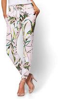 New York & Co. 7th Avenue Floral Drawstring Jogger Pant