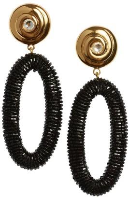 Lizzie Fortunato Goldplated Beaded Hoop-Drop Earrings