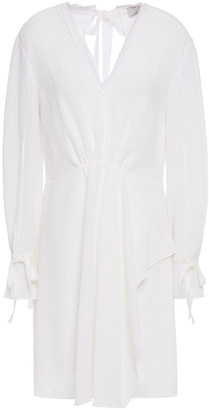 3.1 Phillip Lim Draped Gathered Cloque Mini Dress
